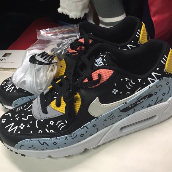 size 40 ff3ce 584a1 Nike Shoes | Air Max 90 Premium Ocean Bliss Sail Scribbles | Poshmark